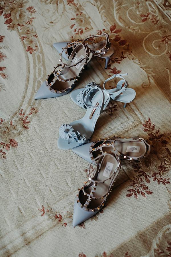 blue wedding shoes #weddingshoes