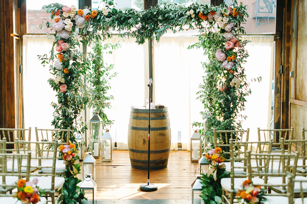 wedding ceremony setup - photo by M2 Photography https://ruffledblog.com/dinner-party-wedding-at-brooklyn-winery