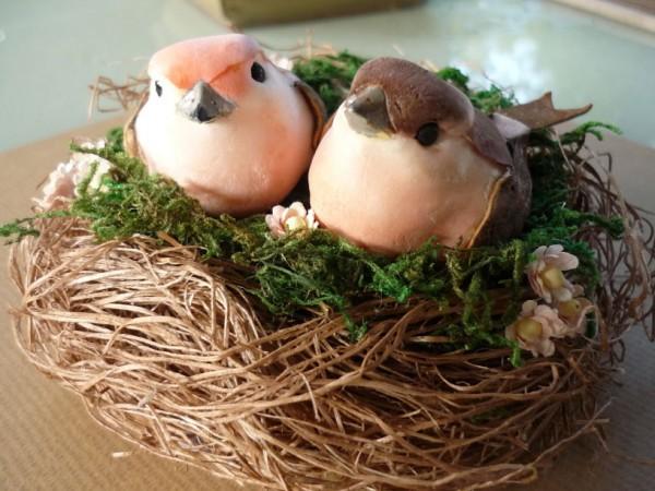 Поделки своими руками гнездо с птенцами 17