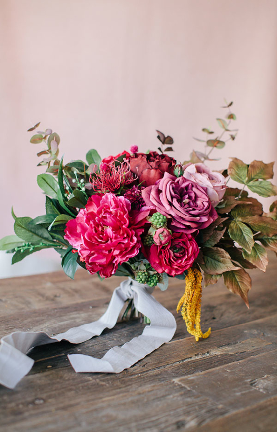DIY Wedding Bouquet with a Foraged Look