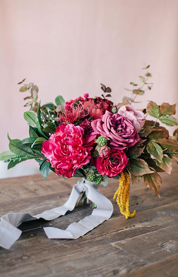 Diy Fall Burgundy Bouquet 19
