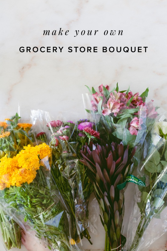DIY Grocery Store Bouquet