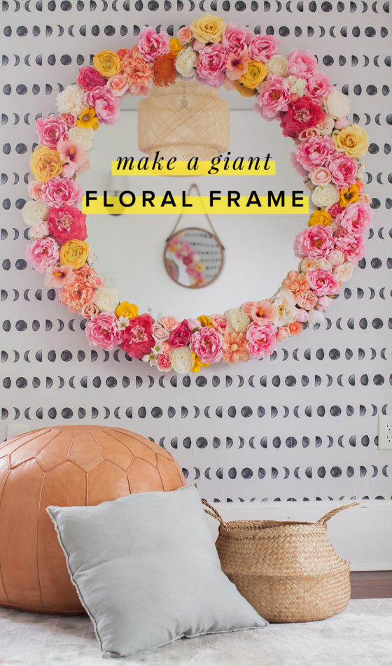 Make This Giant Floral Frame with a DIY Hula Hoop