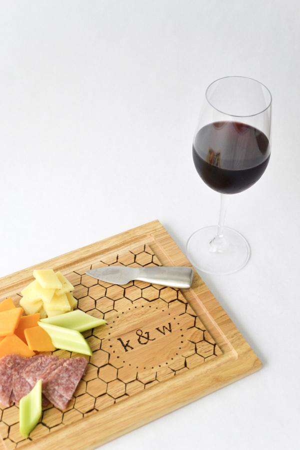 DIY Monogrammed Cutting Board · Ruffled