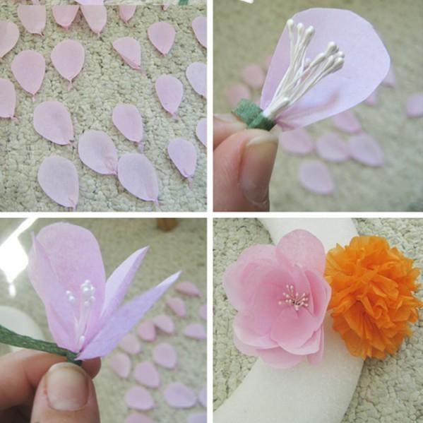 Бумажные цветы своими руками для украшения 77
