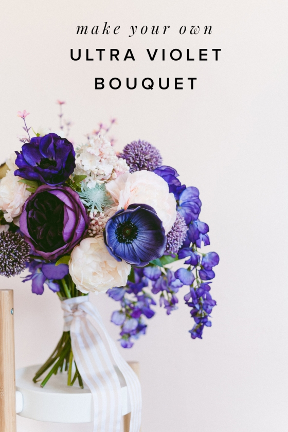 Make this Easy Ultra Violet Wedding Bouquet for Spring