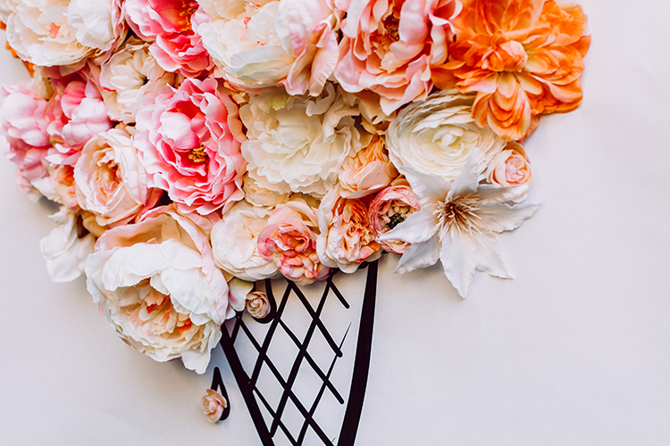 3D Illustrated Floral Backdrop DIY photo Clarence Chan  http://ruffledblog.com/3d-illustrated-floral-backdrop-diy