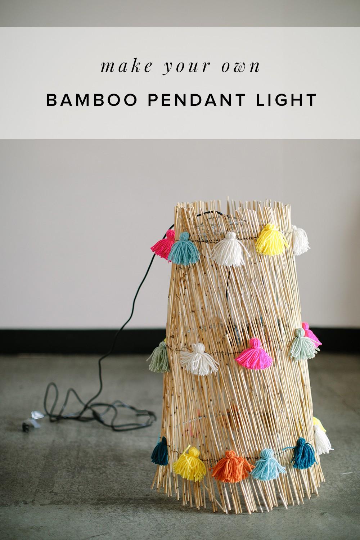 Diybamboopendantlight