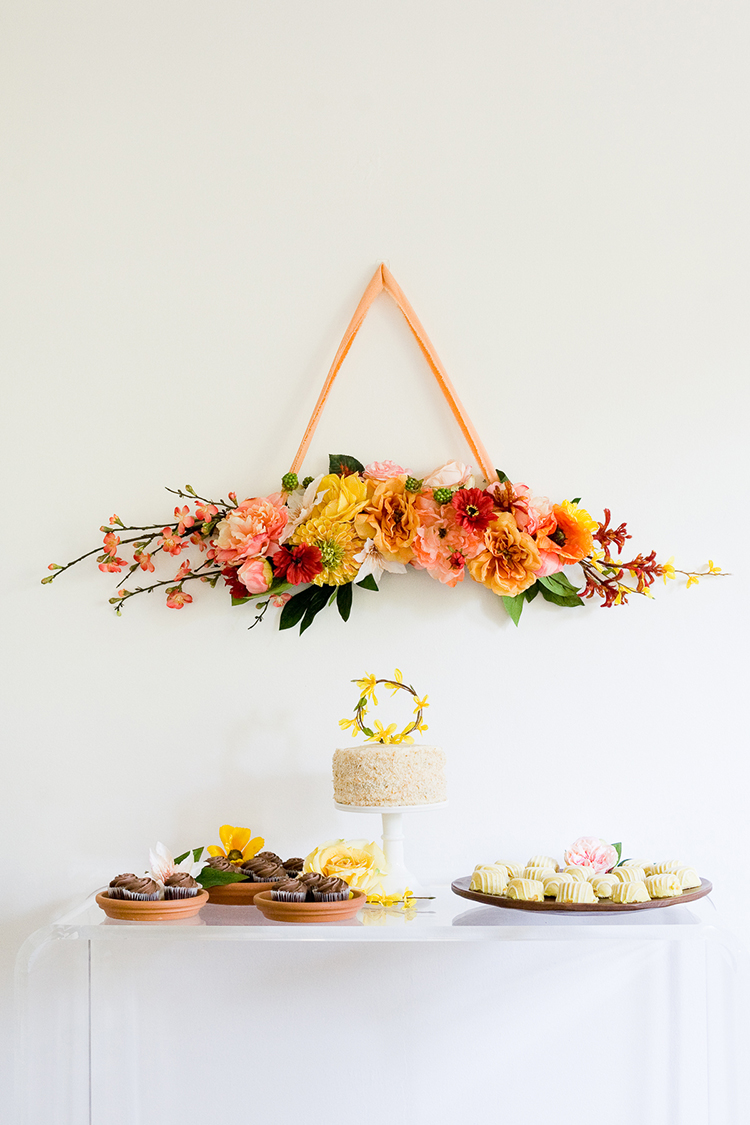 DIY Floral Bough and Cake Topper