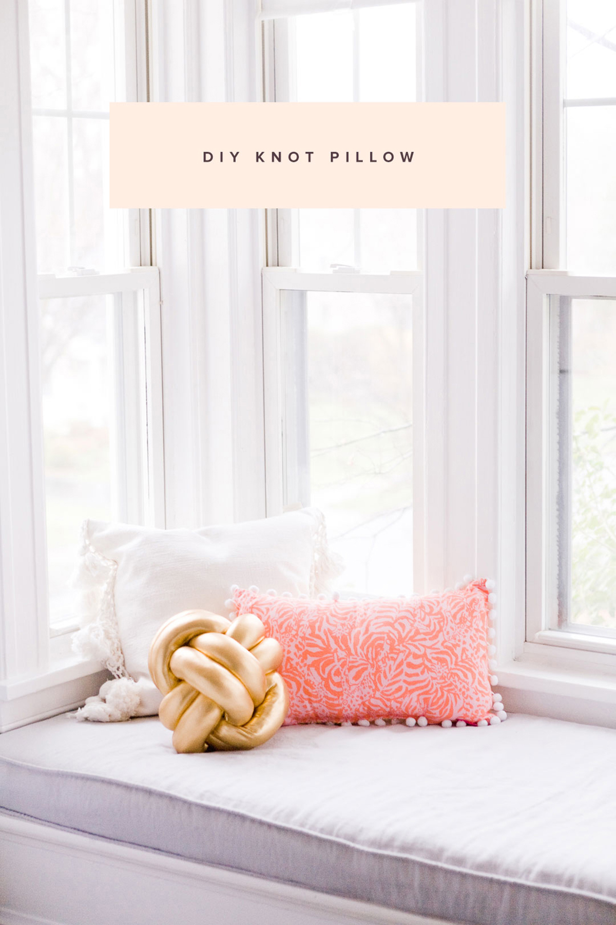 DIY Knot Pillow Tutorial