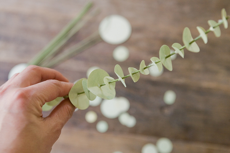 DIY Paper Eucalyptus table numbers