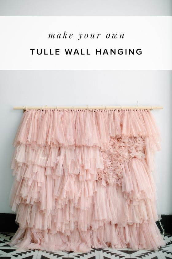 DIY Tulle Wall Hanging