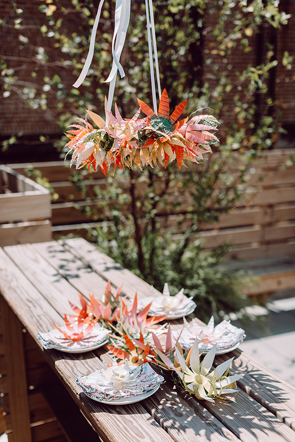recycle water bottles into this outdoor party decor!