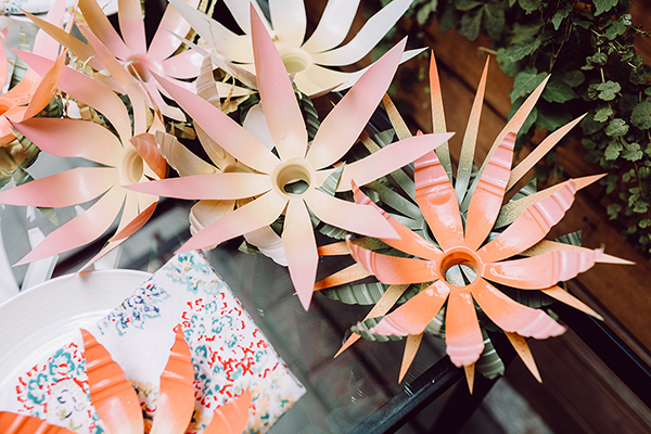 DIY recycled ombre flowers
