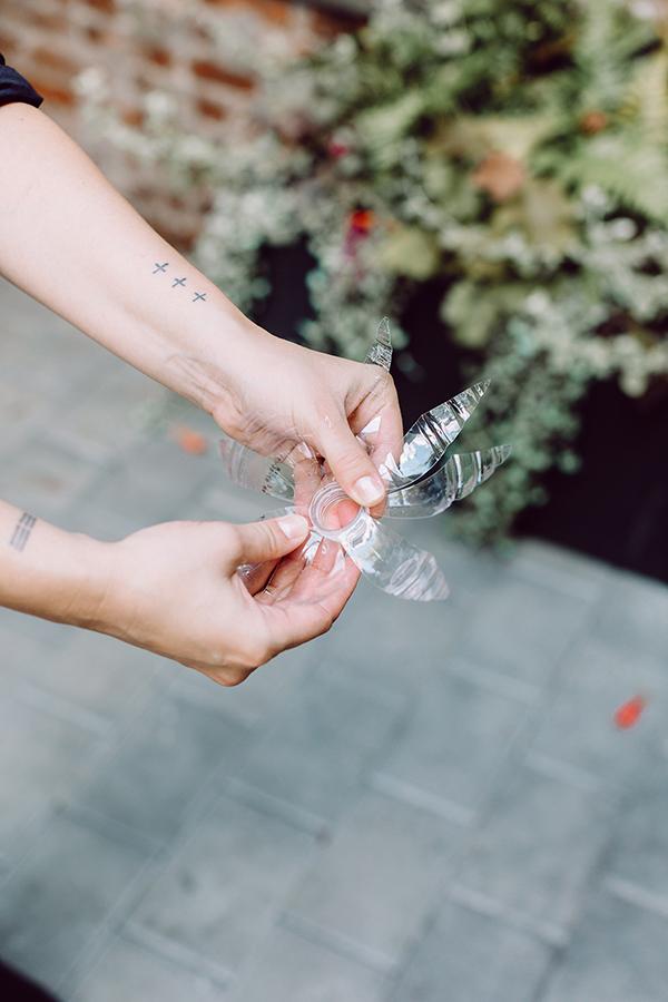 DIY Plastic Bottle Flower Wreath