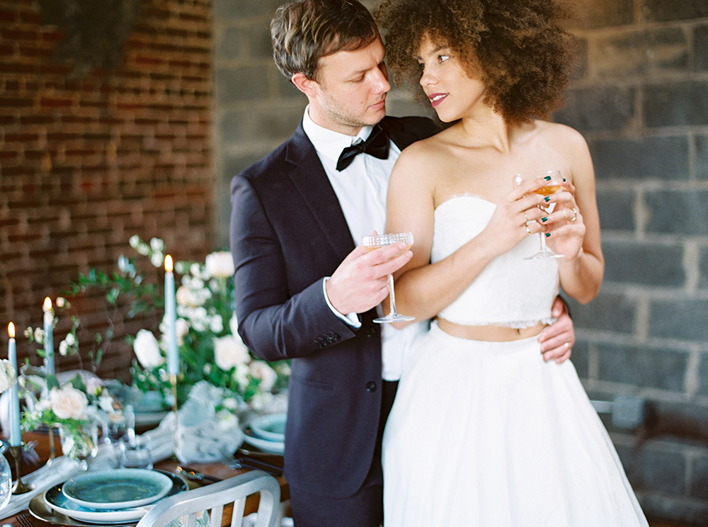 Downtown Birmingham Spring Wedding Inspiration - photo by Photos by Heart https://ruffledblog.com/downtown-birmingham-spring-wedding-inspiration