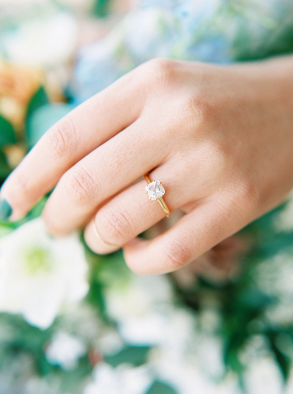 simple engagement rings - photo by Photos by Heart http://ruffledblog.com/downtown-birmingham-spring-wedding-inspiration