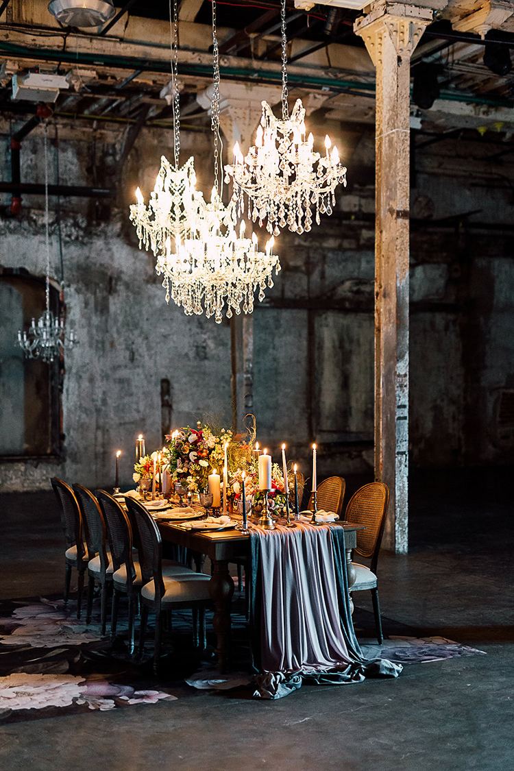 Dramatic + Moody Wedding Inspiration for the Modern Bride - photo by Purple Tree Photography https://ruffledblog.com/dramatic-moody-wedding-inspiration-for-the-modern-bride