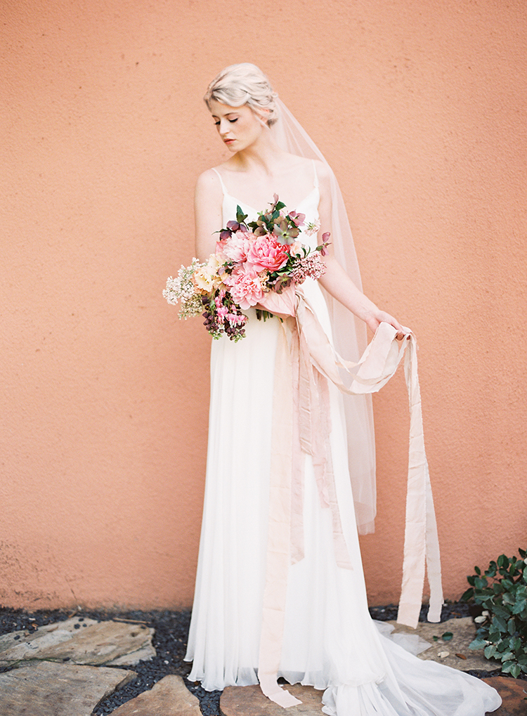 bridal style - photo by Kayla Barker Fine Art Photography http://ruffledblog.com/dreamy-tuscan-inspired-wedding-ideas-with-terracotta