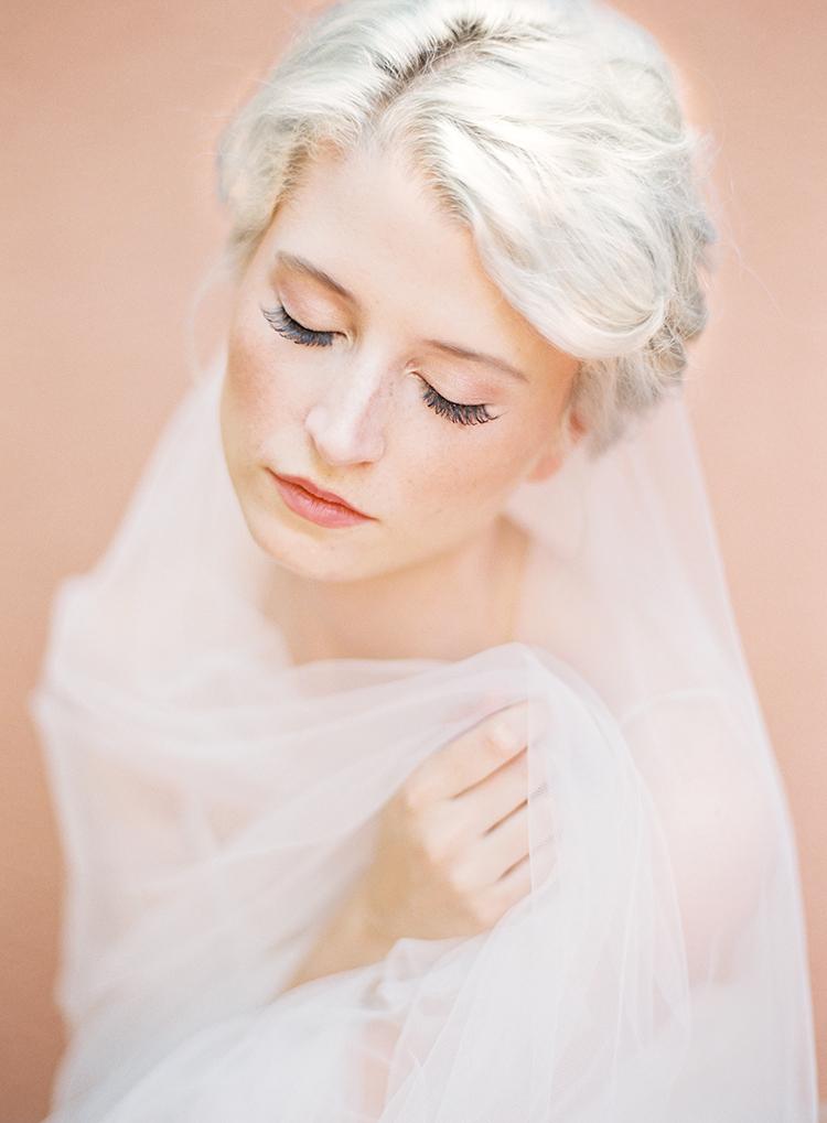 simple bridal makeup - photo by Kayla Barker Fine Art Photography http://ruffledblog.com/dreamy-tuscan-inspired-wedding-ideas-with-terracotta