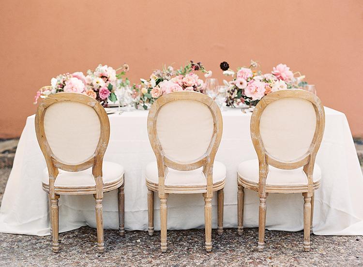 wedding tables - photo by Kayla Barker Fine Art Photography http://ruffledblog.com/dreamy-tuscan-inspired-wedding-ideas-with-terracotta