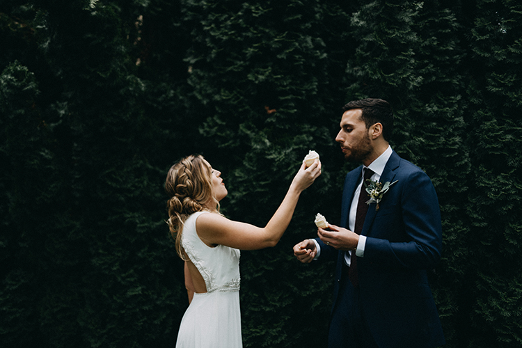 wedding elopements - photo by Minerva House Photography http://ruffledblog.com/dreamy-waterfall-elopement-at-wahclella-falls