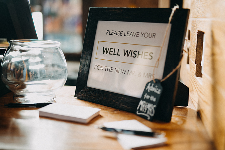 wedding signs - photo by Minerva House Photography https://ruffledblog.com/dreamy-waterfall-elopement-at-wahclella-falls