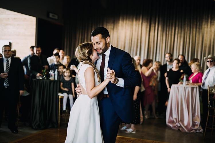 first dances - photo by Minerva House Photography https://ruffledblog.com/dreamy-waterfall-elopement-at-wahclella-falls