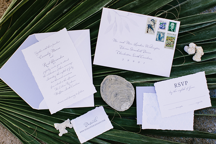 simple wedding stationery - photo by Angela Zion Photography https://ruffledblog.com/dusty-toned-wedding-ideas-inspired-by-the-baltic-sea