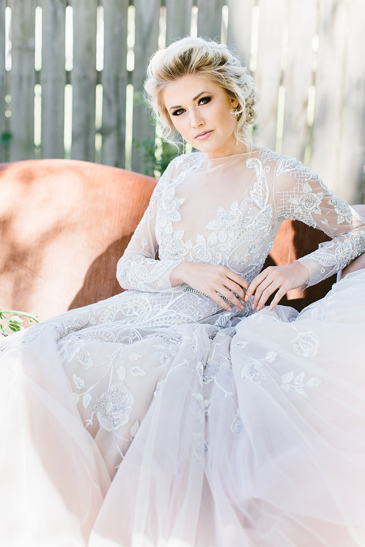 colored wedding dresses - photo by Angela Zion Photography https://ruffledblog.com/dusty-toned-wedding-ideas-inspired-by-the-baltic-sea