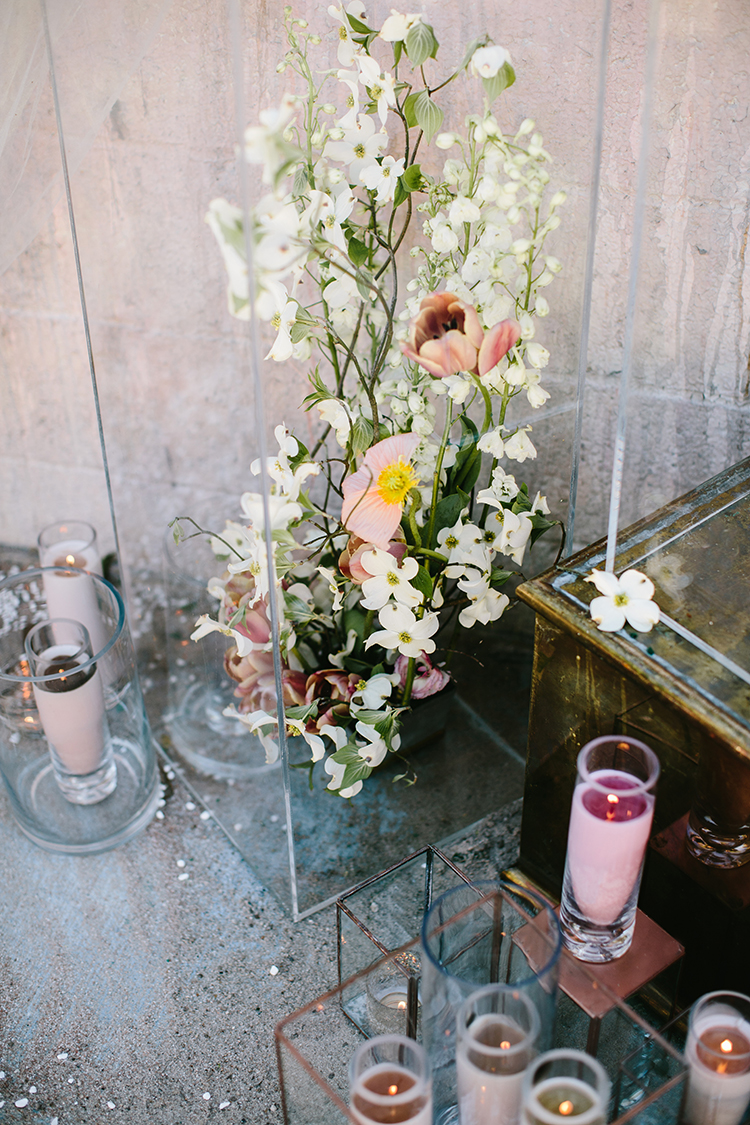 ceremony floral inspiration - photo by Angela Zion Photography https://ruffledblog.com/dusty-toned-wedding-ideas-inspired-by-the-baltic-sea