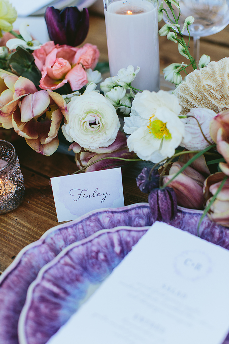 wedding tablescape details - photo by Angela Zion Photography https://ruffledblog.com/dusty-toned-wedding-ideas-inspired-by-the-baltic-sea