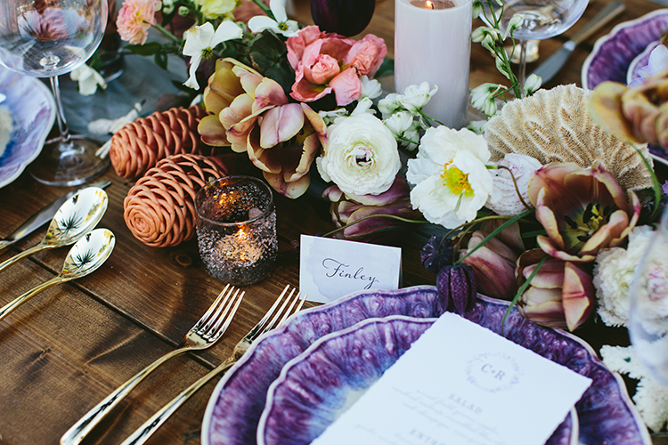 wedding tablescapes - photo by Angela Zion Photography https://ruffledblog.com/dusty-toned-wedding-ideas-inspired-by-the-baltic-sea