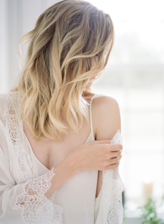 wedding hair inspiration - https://ruffledblog.com/early-morning-bridal-boudoir-inspiration