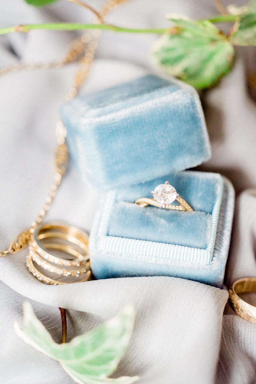 unique engagement rings - photo by Haley Richter Photo http://ruffledblog.com/east-meets-west-romantic-wedding-inspiration