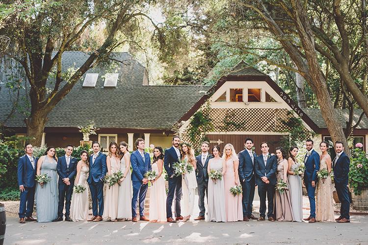 wedding party portraits - photo by Gina and Ryan Photography https://ruffledblog.com/eclectic-bohemian-wedding-at-calamigos-ranch