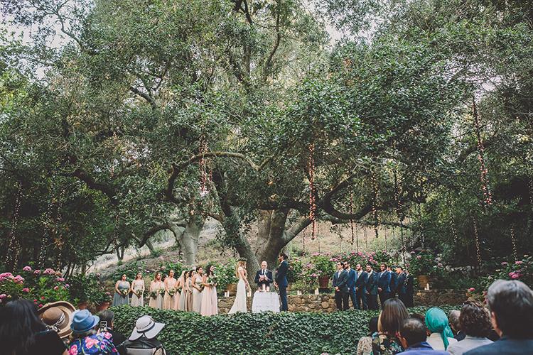 wedding ceremonies - photo by Gina and Ryan Photography http://ruffledblog.com/eclectic-bohemian-wedding-at-calamigos-ranch