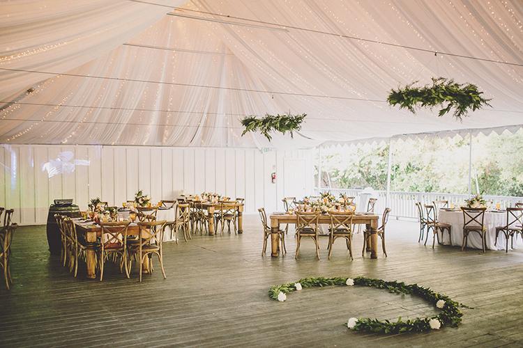 wedding reception venues - photo by Gina and Ryan Photography http://ruffledblog.com/eclectic-bohemian-wedding-at-calamigos-ranch