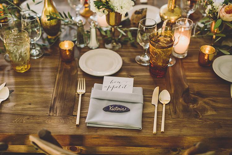 rustic bohemian wedding receptions - photo by Gina and Ryan Photography http://ruffledblog.com/eclectic-bohemian-wedding-at-calamigos-ranch