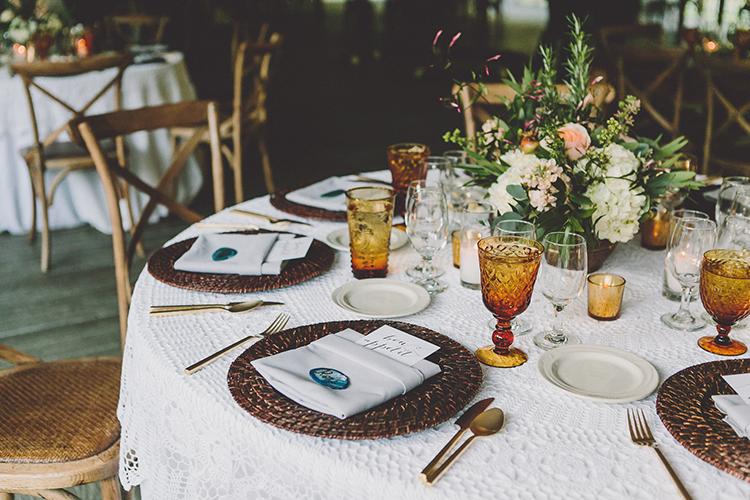 wedding tables - photo by Gina and Ryan Photography https://ruffledblog.com/eclectic-bohemian-wedding-at-calamigos-ranch