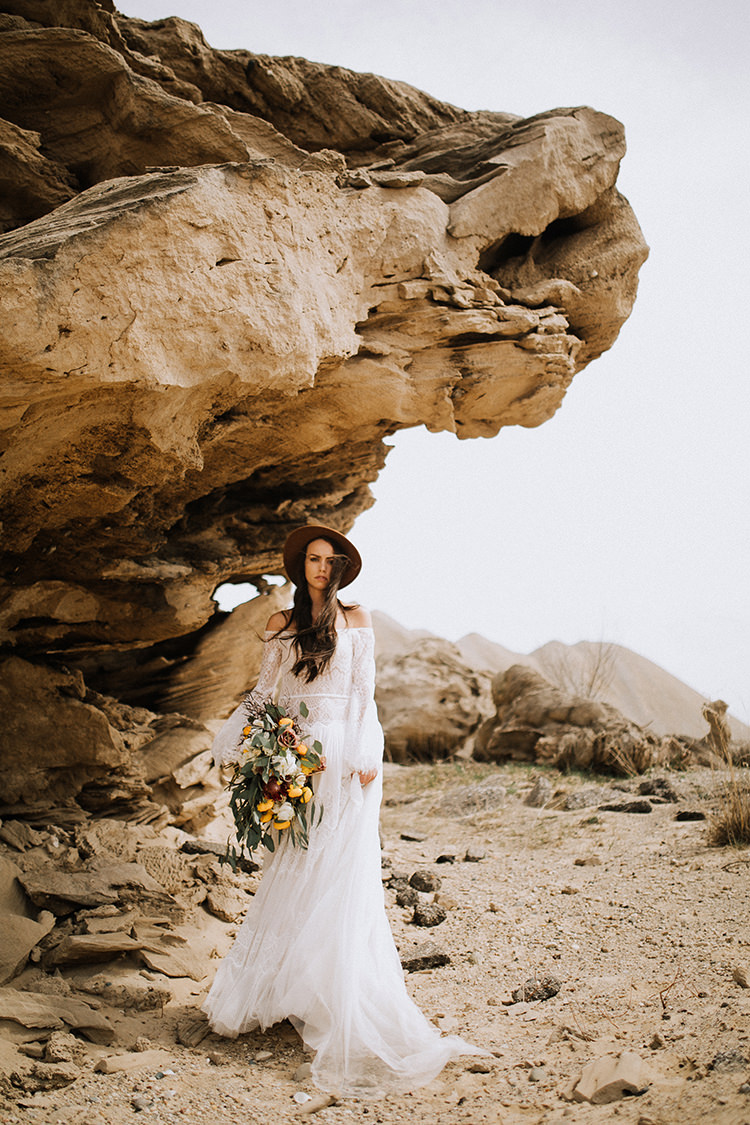 Eclectic Boho Desert Bridal Inspiration - photo by Chelsea Seekell Photography https://ruffledblog.com/eclectic-boho-desert-bridal-inspiration