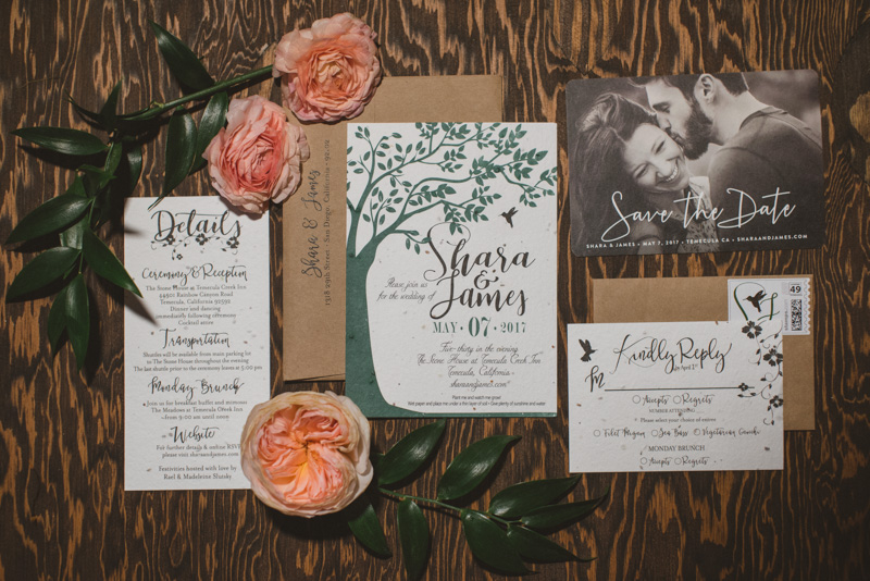 forest wedding invitations - https://ruffledblog.com/eclectic-rainy-day-wedding-with-moroccan-accents