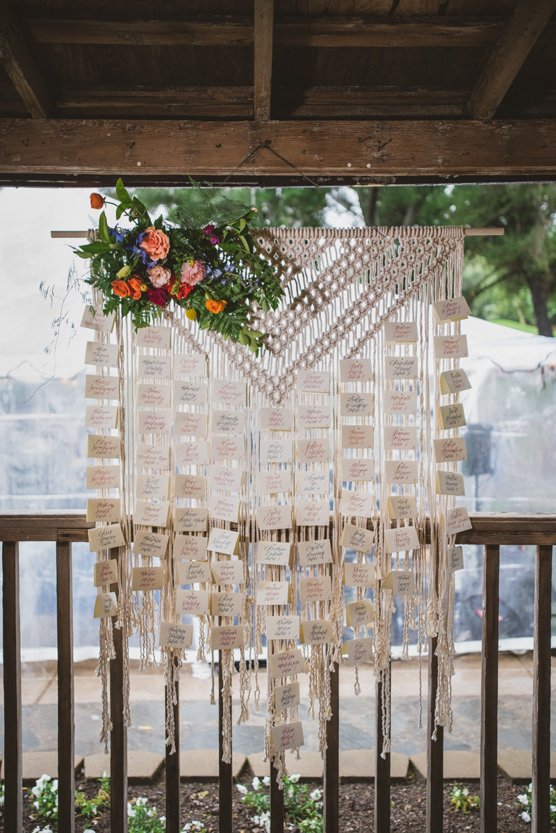 macrame wedding day details - https://ruffledblog.com/eclectic-rainy-day-wedding-with-moroccan-accents