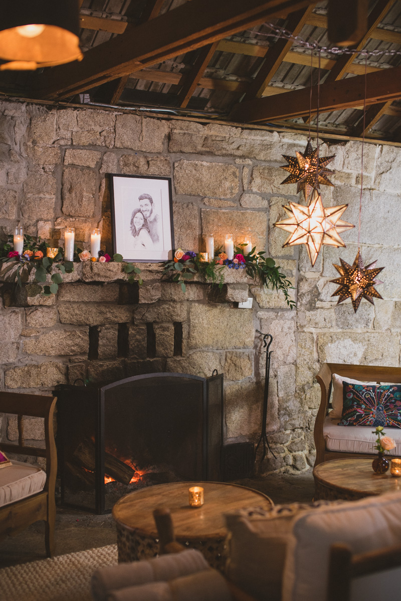rustic wedding lounges - https://ruffledblog.com/eclectic-rainy-day-wedding-with-moroccan-accents