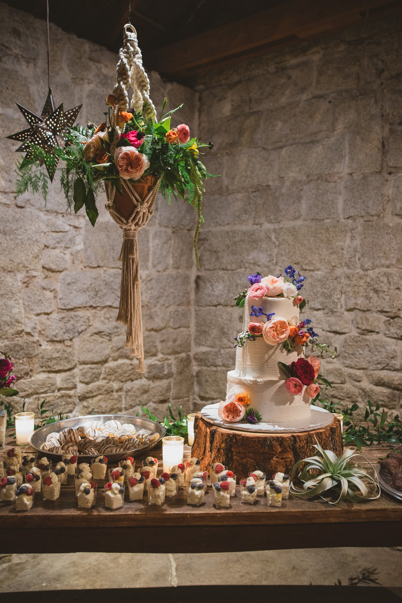 wedding dessert tables - https://ruffledblog.com/eclectic-rainy-day-wedding-with-moroccan-accents