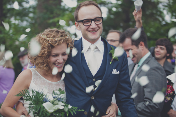 ceremony recessional - photo by Terra Lange Photography https://ruffledblog.com/eclectic-washington-coast-wedding