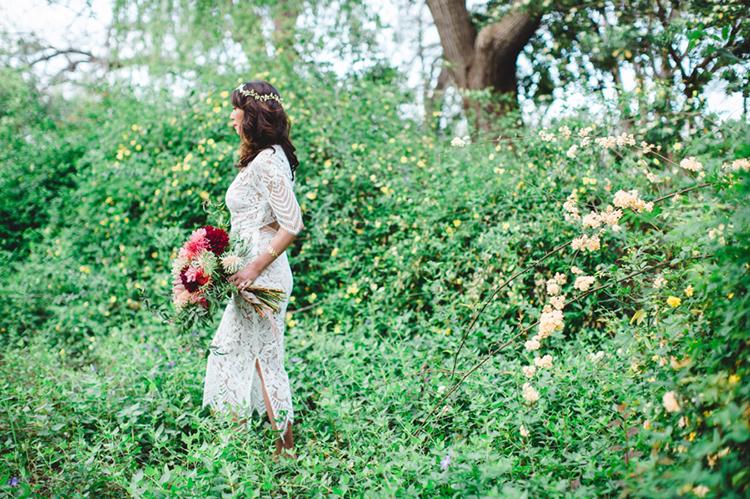 garden wedding bridal inspiration - photo by Elisabeth Arin Photography http://ruffledblog.com/eclectic-wedding-ideas-inspired-by-wanderlust