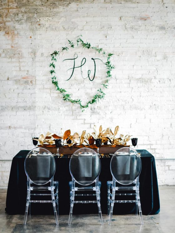 Black Tie Wedding Inspiration with a Show-stopping Nod to Adele