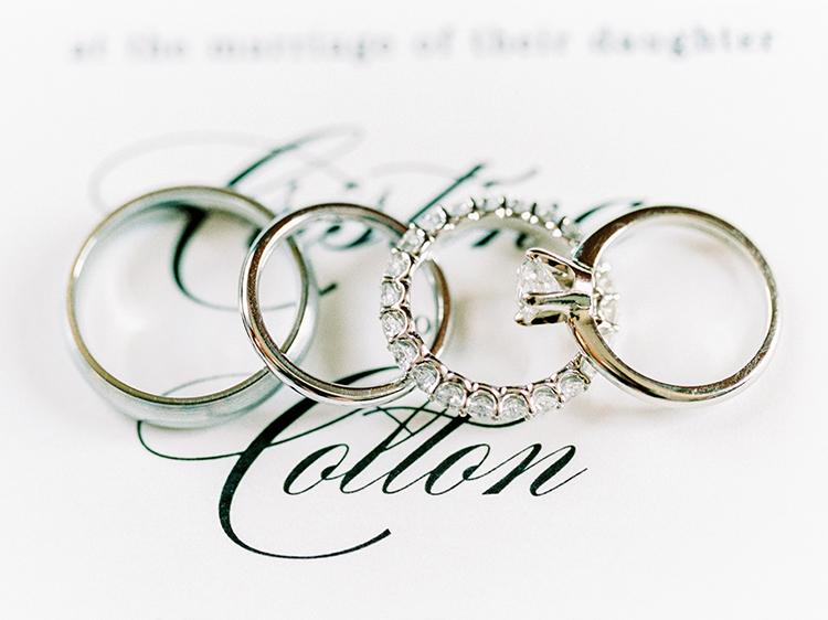 wedding rings - photo by Love by Serena https://ruffledblog.com/elegant-annapolis-wedding-with-romantic-greenery