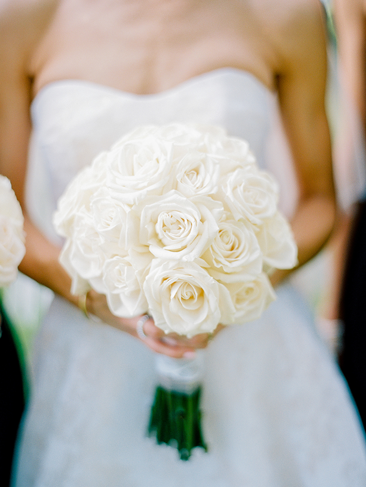white rose wedding bouquets - photo by Love by Serena http://ruffledblog.com/elegant-annapolis-wedding-with-romantic-greenery